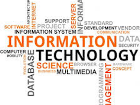 Picture of IT - This is an image of a word flow chart listing various disciplines of Information Technology.