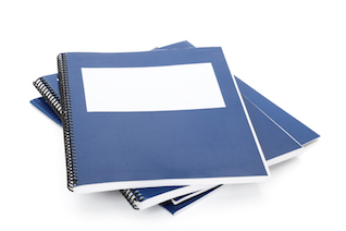 Picture of Reports - This is an image of several blue binders.